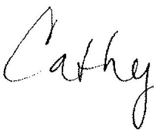 Cathy's signature 3