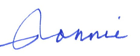Ronnie's signature